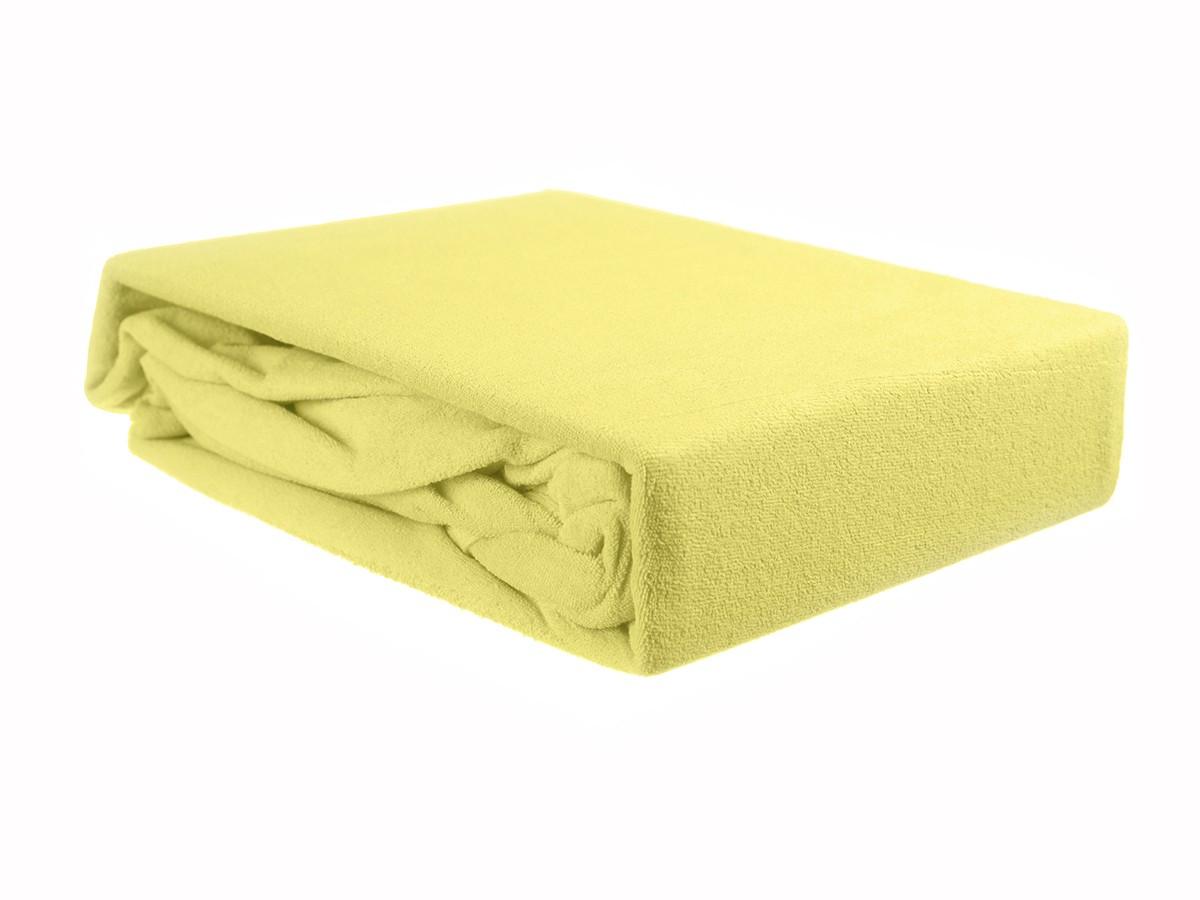 Простыня на резинке махровая желтая ЭГО