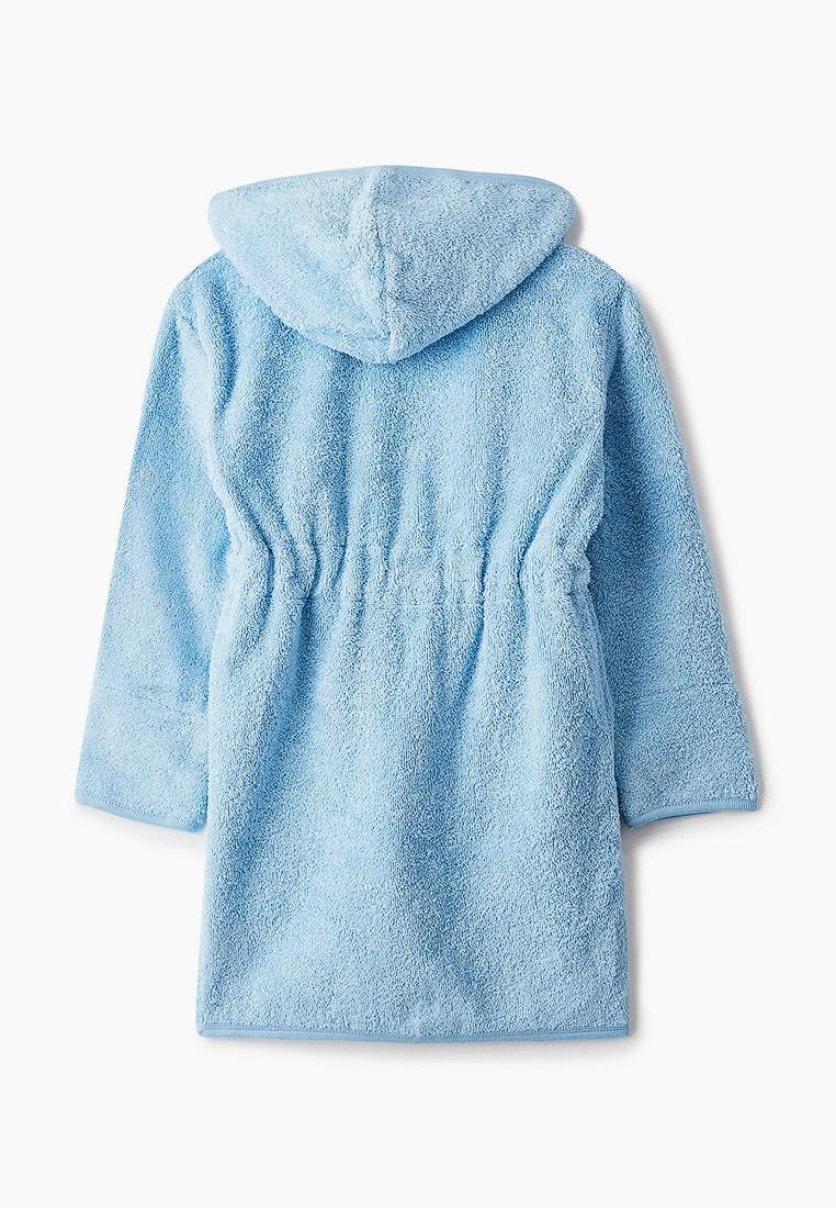 """Детский махровый халат с аппликацией, голубой, """"ЭГО"""""""