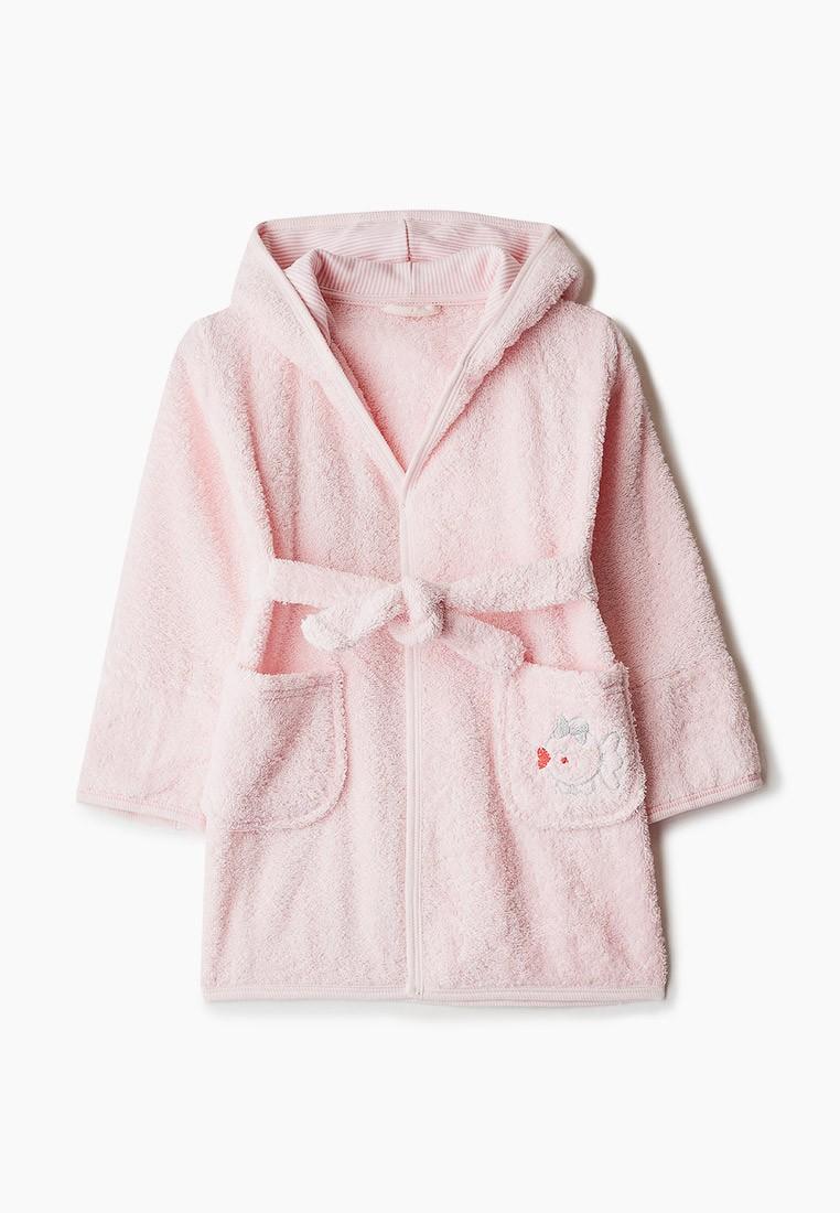 """Детский махровый халат с аппликацией, розовый, """"ЭГО"""""""