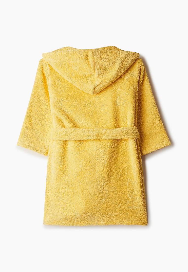 """Детский махровый халат с капюшоном, желтый, """"ЭГО"""""""