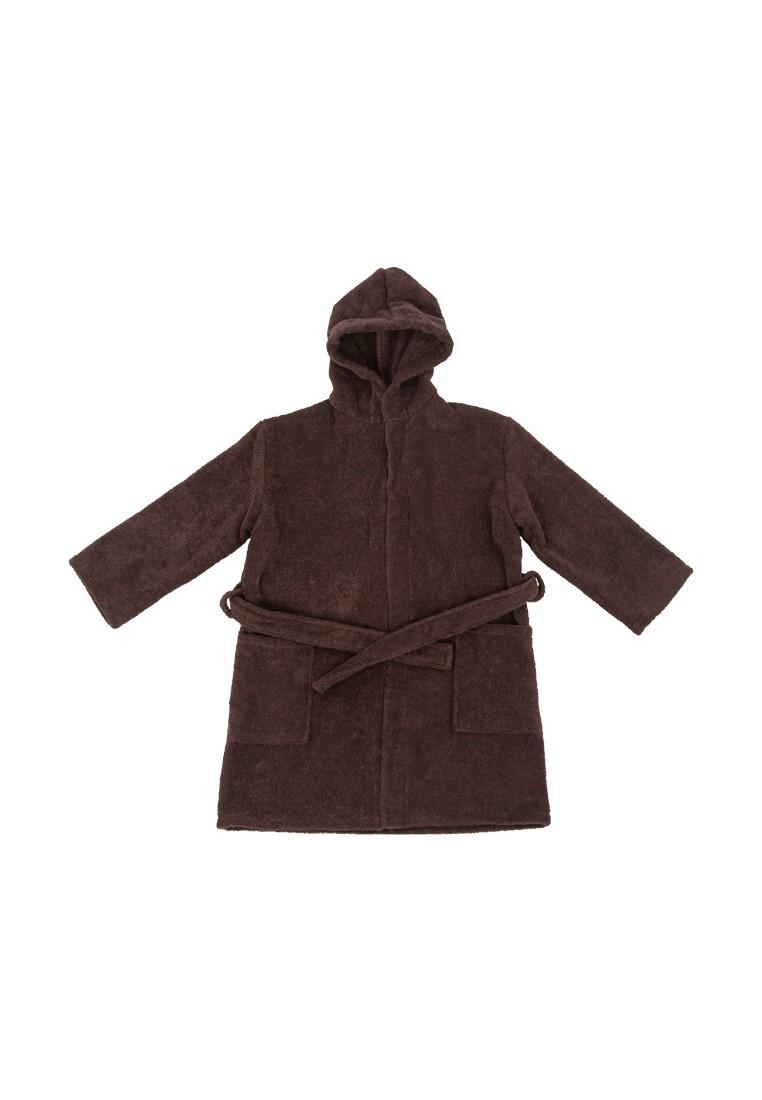 """Детский махровый халат с капюшоном, кофе, """"ЭГО"""""""