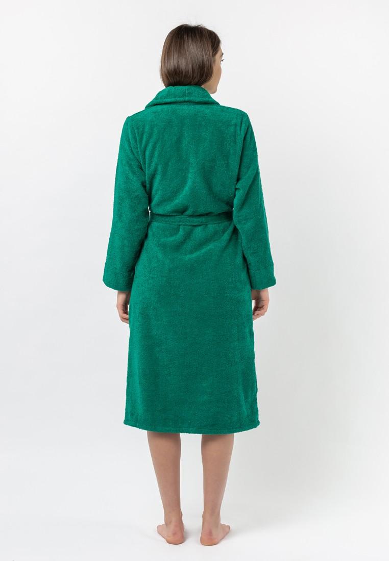 """Халат махровый женский, зеленый, """"ЭГО"""""""