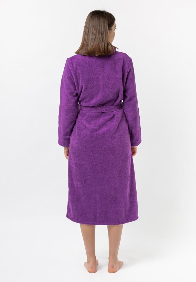 """Халат махровый женский, фиолетовый, """"ЭГО"""""""