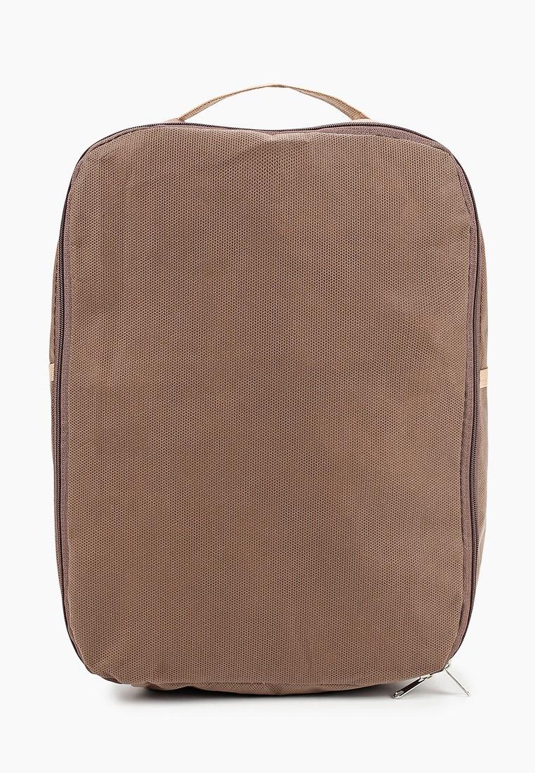 Рюкзак для обуви и вещей коричневый 30х25х16 PRIMA HOUSE