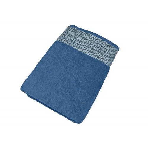 """Купить Махровое полотенце подарочное 70х140 """"Лабиринт синий"""", AISHA по цене от 769 Р. с доставкой"""