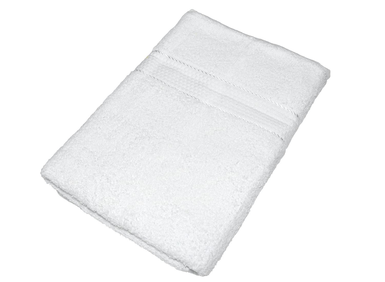 Махровое полотенце белое 70х140 хлопок, AISHA
