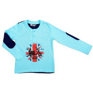 Толстовка для мальчика, цвет голубой+синий, р.104 RAV