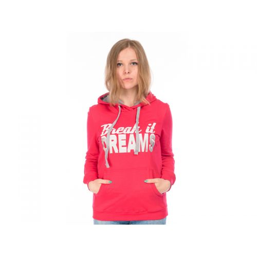Толстовка женская, цвет красный XS, RAV