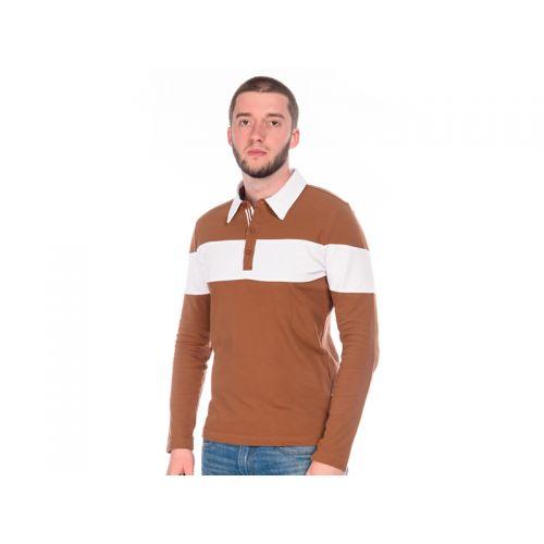 Футболка-поло мужская, цвет коричневый L, RAV