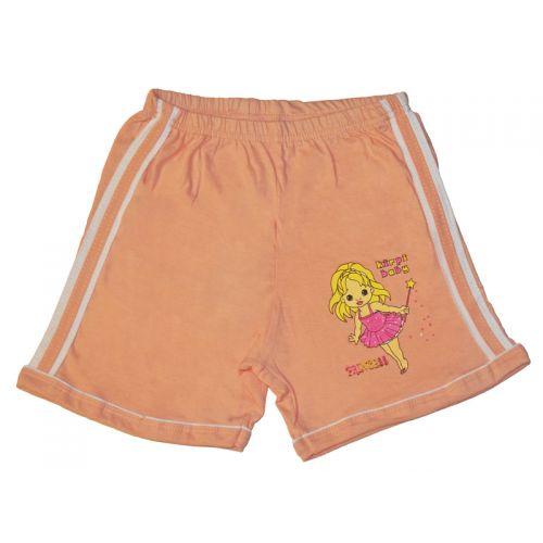 Шорты для девочки, цвет персиковый с принтом, р.86 KIRPI