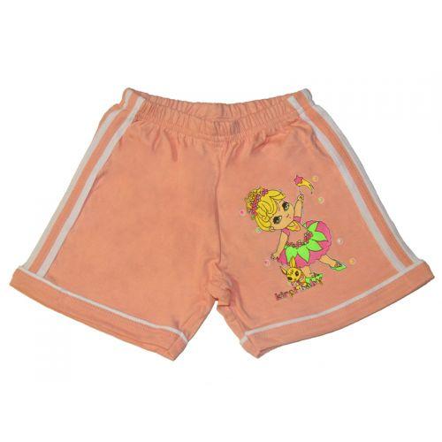 Шорты для девочек, цвет персиковый с принтом, р.86 KIRPI