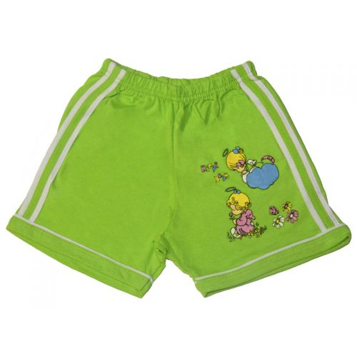 Шорты для девочек, цвет светло-зеленый с принтом, р.86 KIRPI