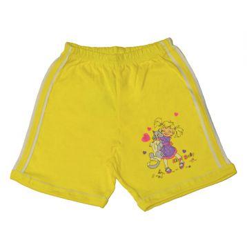 Шорты для девочек, цвет желтый с принтом, р.86 KIRPI