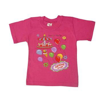 Футболка для девочки, цвет розовый с принтом, р.86 KIRPI