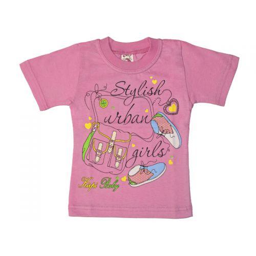 Футболка для девочки, цвет розовой с принтом, р.98 KIRPI