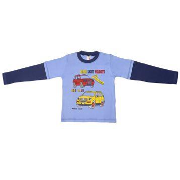 Джемпер для мальчика, цвет сиреневый/синий с принтом, р.110 KIRPI