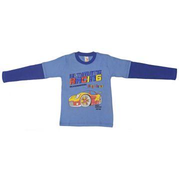 Джемпер для мальчика, цвет голубой/синий с принтом, р.110 KIRPI
