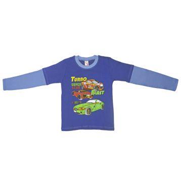 Джемпер для мальчика, цвет синий/голубой с принтом, р.110 KIRPI