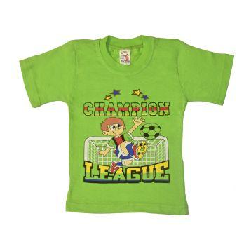 Футболка для мальчика, цвет светло-зеленый с принтом, р.86 KIRPI