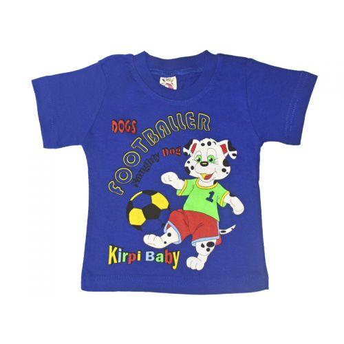 Футболка для мальчика, цвет синий с принтом, р.86 KIRPI