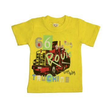 Футболка для мальчика, цвет желтый с принтом, р.86 KIRPI