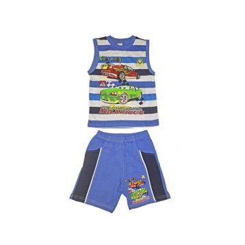 Комплект для мальчика, цвет синий с принтом, р.110 KIRPI