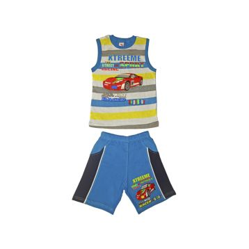 Комплект для мальчика, цвет голубой с принтом, р.110 KIRPI