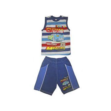 Комплект для мальчика, цвет темно-синий с принтом, р.110 KIRPI