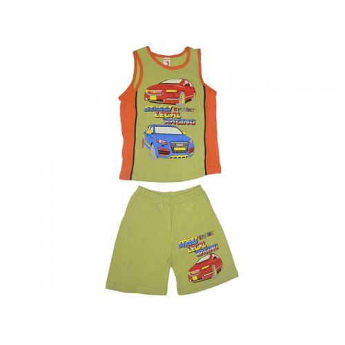Комплект для мальчика, цвет оливковый/оранжевый с принтом, р.110 KIRPI
