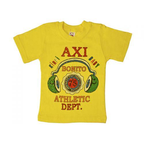 Футболка для мальчика, цвет желтый с принтом, р.98 KIRPI