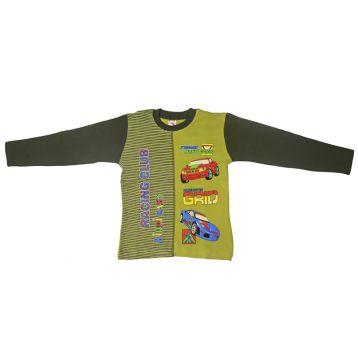 Джемпер для мальчика, цвет оливковый/темно-зеленый с принтом, р.110 KIRPI