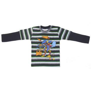 Джемпер для мальчика, цвет темно-синий/полоски с принтом, р.98 KIRPI