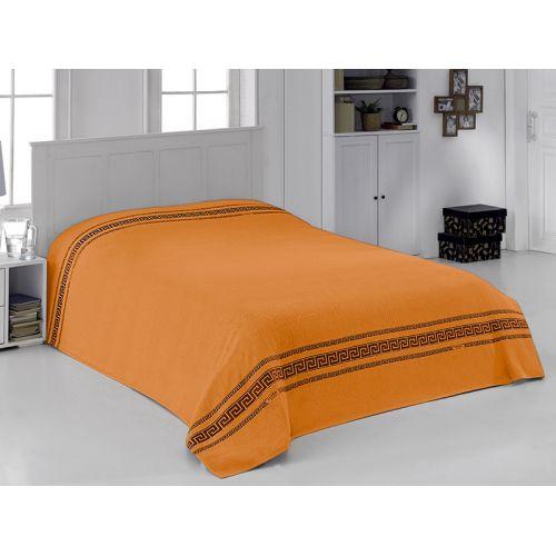 """Купить Махровая простыня """"Грек оранжевый"""" 160х220 бамбук, CORONET по цене от 3 812 Р. с доставкой"""