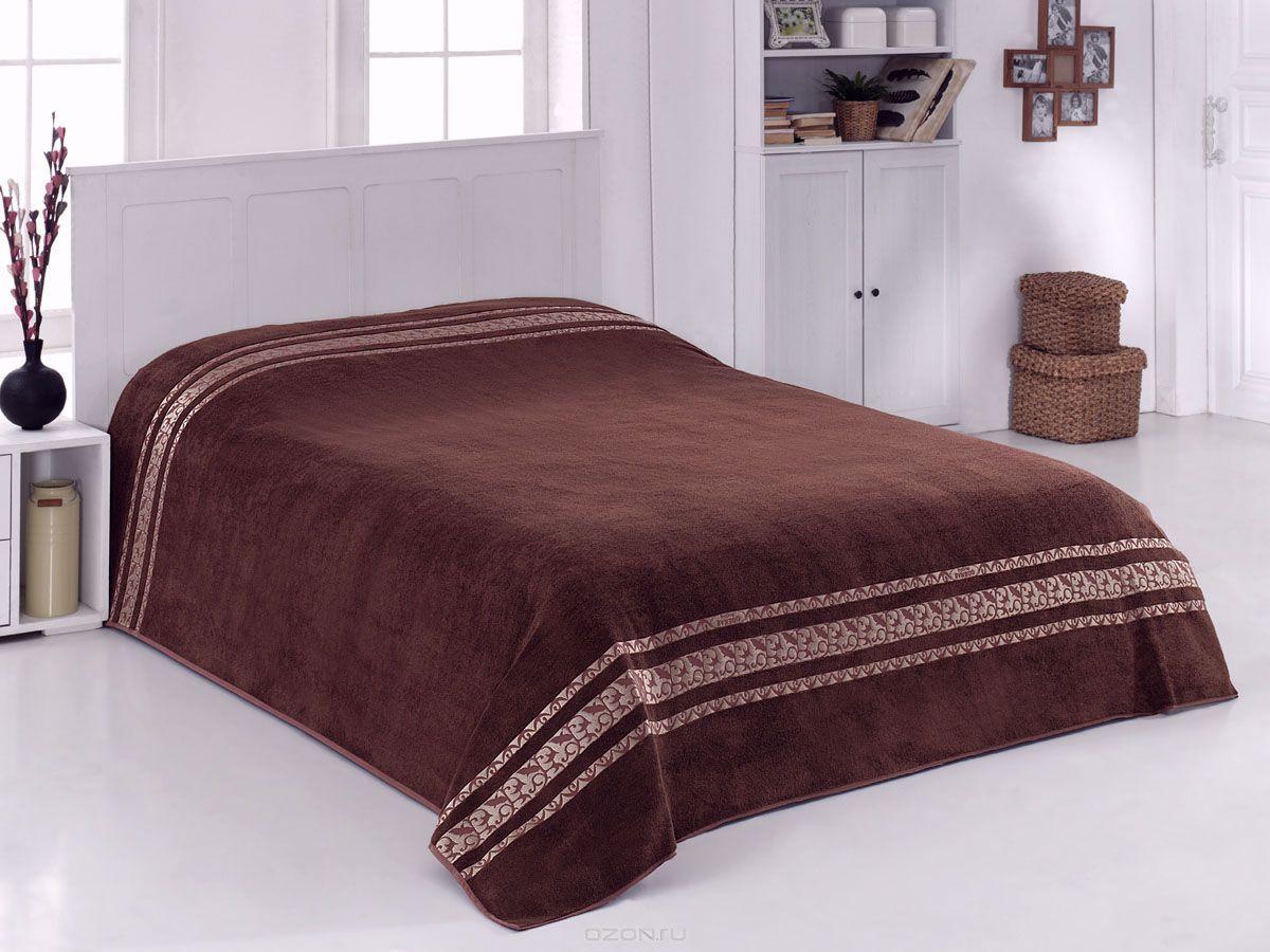 "Махровая простыня ""Оттоман коричневый"" 160х220 бамбук, CORONET"
