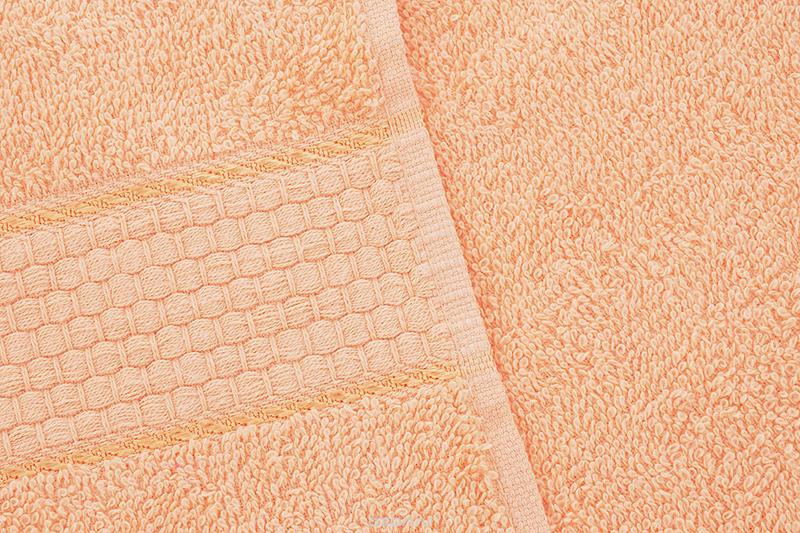Махровое полотенце персиковое 70х140 хлопок, AISHA
