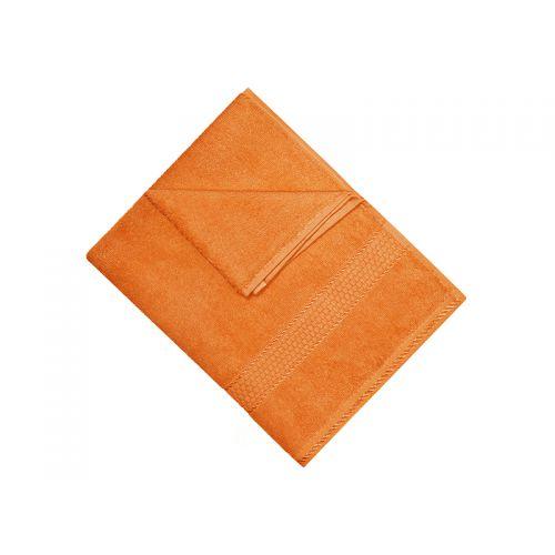 Купить Махровое полотенце оранжевое 40х70 хлопок, AISHA по цене от 95 Р. с доставкой