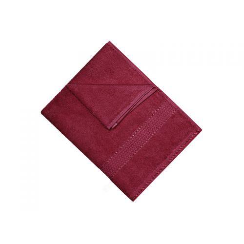 Купить Махровое полотенце бордовое 40x70 хлопок, AISHA по цене от 95 Р. с доставкой