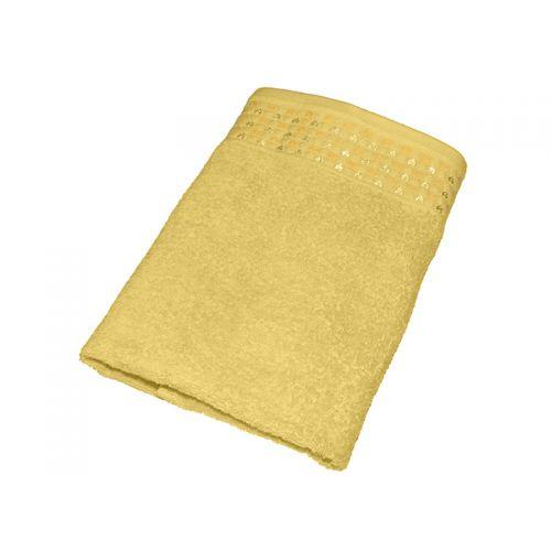 """Купить Махровое полотенце """"Сердечки"""" желтое 50х90, AISHA по цене от 262 Р. с доставкой"""