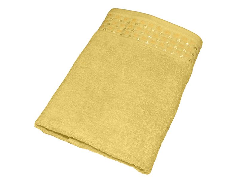 "Махровое полотенце ""Сердечки"" желтое 50х90, AISHA"