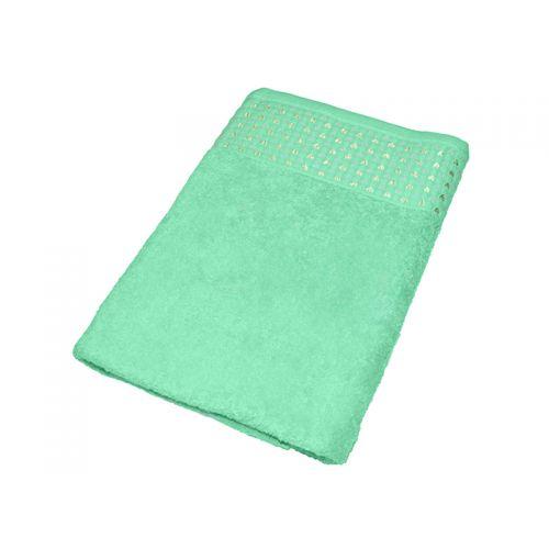 """Купить Махровое полотенце """"Сердечки"""" бирюзовое 70х140, AISHA по цене от 579 Р. с доставкой"""