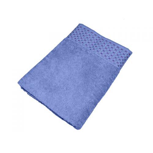 "Купить Махровое полотенце ""Сердечки"" сиреневое 70х140, AISHA по цене от 579 Р. с доставкой"