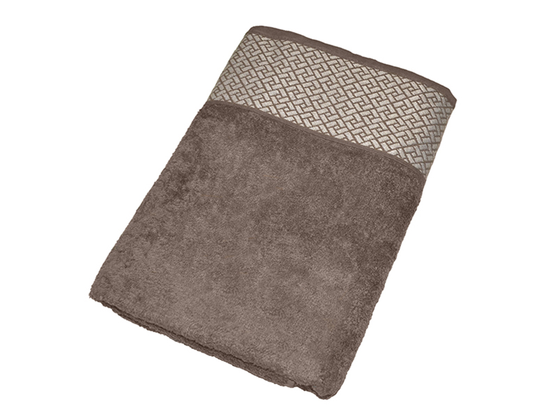 """Махровое полотенце подарочное 70х140 """"Лабиринт кофейный"""", AISHA"""