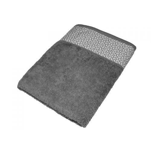 """Купить Махровое полотенце подарочное 70х140 """"Лабиринт серый"""", AISHA по цене от 579 Р. с доставкой"""