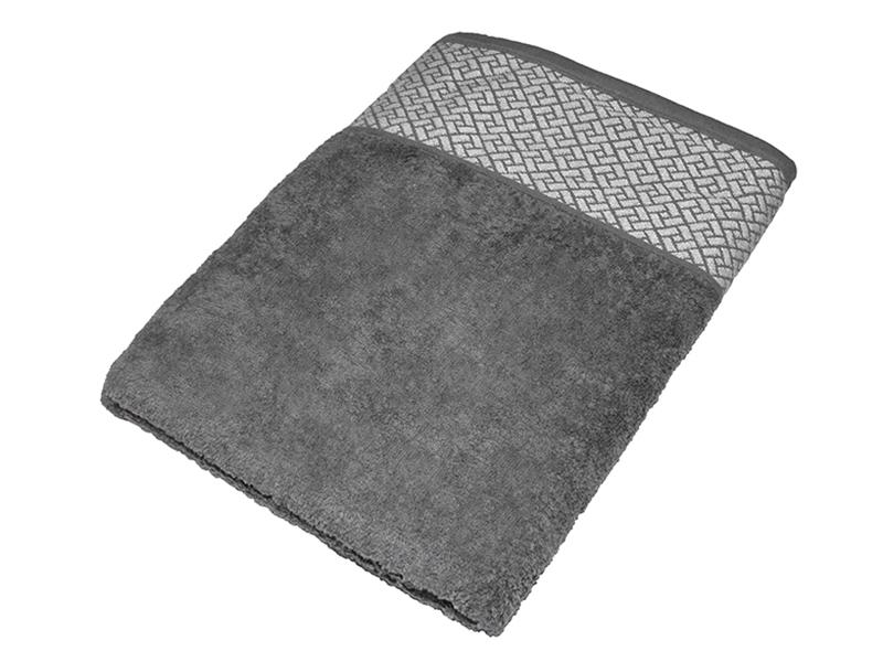 """Махровое полотенце подарочное 70х140 """"Лабиринт серый"""", AISHA"""