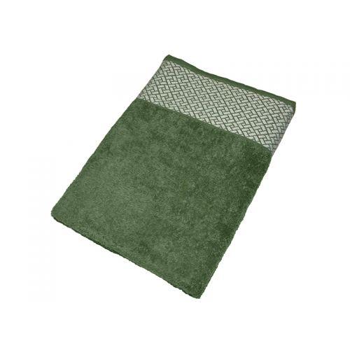"""Купить Махровое полотенце подарочное 70х140 """"Лабиринт зеленый"""", AISHA по цене от 579 Р. с доставкой"""