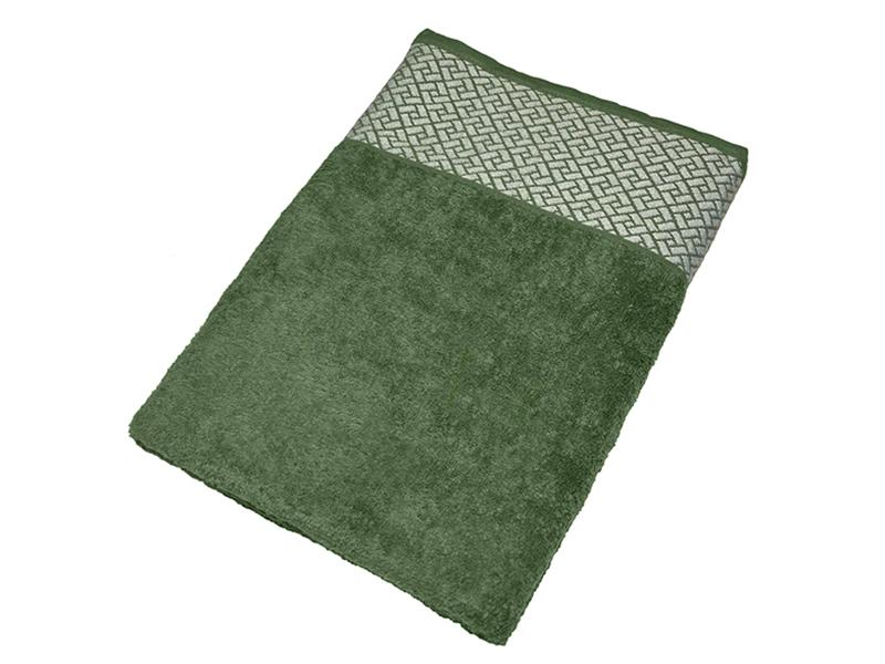 """Махровое полотенце подарочное 70х140 """"Лабиринт зеленый"""", AISHA"""