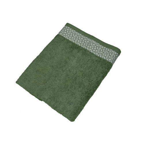 """Купить Махровое полотенце подарочное 50х90 """"Лабиринт зеленый"""", AISHA по цене от 262 Р. с доставкой"""