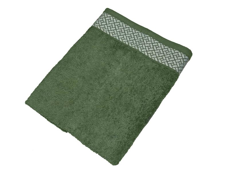 """Махровое полотенце подарочное 50х90 """"Лабиринт зеленый"""", AISHA"""