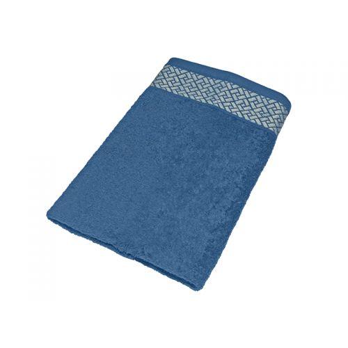 """Купить Махровое полотенце подарочное 50х90 """"Лабиринт синий"""", AISHA по цене от 262 Р. с доставкой"""
