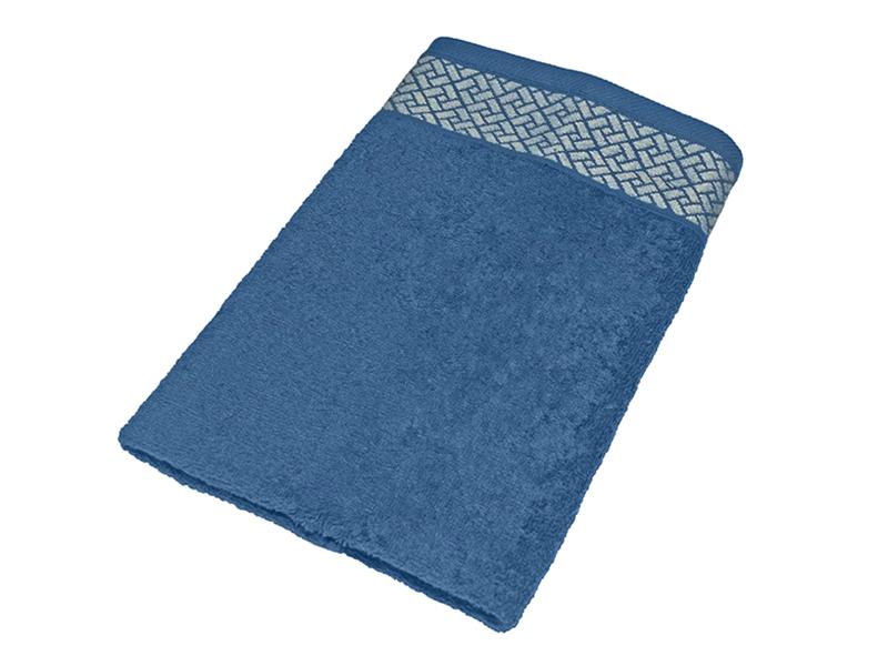 """Махровое полотенце подарочное 50х90 """"Лабиринт синий"""", AISHA"""